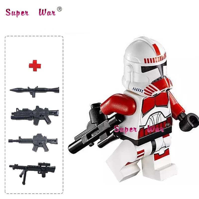 one piece star wars superhero Shock clone Trooper building blocks lepin action  sets model bricks Baby toys for children apple ipod nano chromatic 4g 8gb