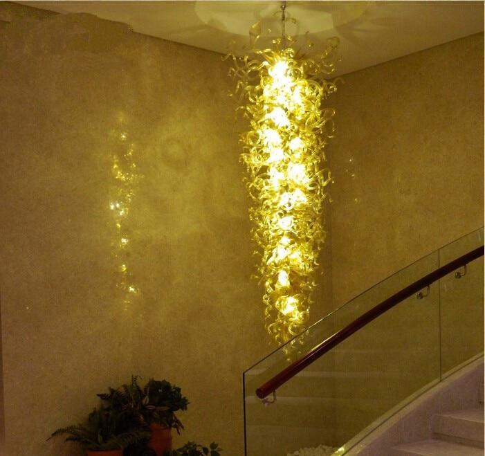 LED Excelente Corredor Lustre Luz Sala de estar Moderna Lustre de Vidro Da Arte