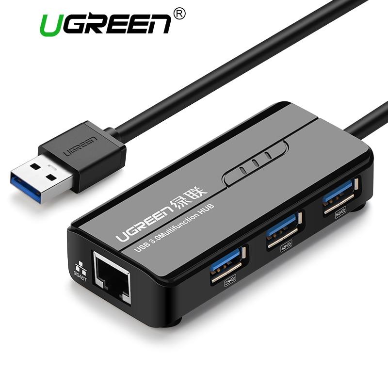 Ugreen USB Ethernet USB 3.0 2.0 a RJ45 HUB per Xiaomi Mi Box 3 Android TV Set-top Box Ethernet Adapter Scheda di Rete USB Lan