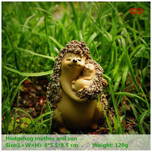 EVERYDAY COLLECTION Resin Hedgehog Fairy Garden Home Decoration Desktop Ornaments Mother's Day Gift