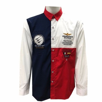 Aeronautica Militare shirts camisa masculina Long sleeve men shirt brands Air force embroidery aeronautica eden male shirts 196
