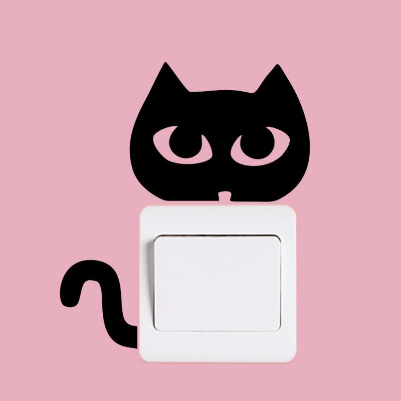 DIY Funny Cute Black Cat Dog Rat Mouse Animls Switch Decal Wall Stickers DIY Funny Cute Black Cat Dog Rat Mouse Animls Switch Decal Wall Stickers HTB1f3kOJpXXXXa6XXXXq6xXFXXXP