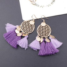 Multicolor Tassel Charm Drop Earrings for Women Multilayers Boho Fringed Earring Wedding Party Statement Earings Jewelry Gifts