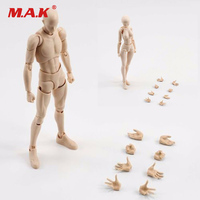 Approx 14.5 cm Light Color Male Female Body Movebale Action Figure With Extra Hands Model Collections Brinquedos Toys