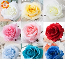 5PCS Artificial Silk Rose Heads DIY Decorative Bride Fake Flower Head For Home Wedding Birthday Party Decoration Fake Flowers 2 heads rose artificial flower fake leaf velvet silk flowers artificial for home party wedding decoration