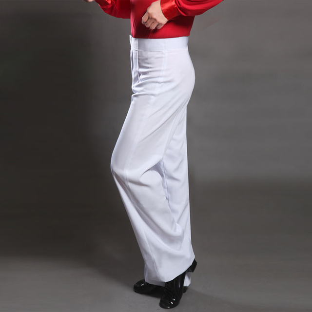 Pleased Latin Dance Pant For Male White Fringe Pant Men Square Professional Tango Boy Children Competitive Adult Trouser N7053