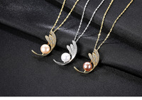 Fashion S925 Sterling Silver Necklace Freshwater Pearl Pendant Jewelry Holiday Gift LBM10