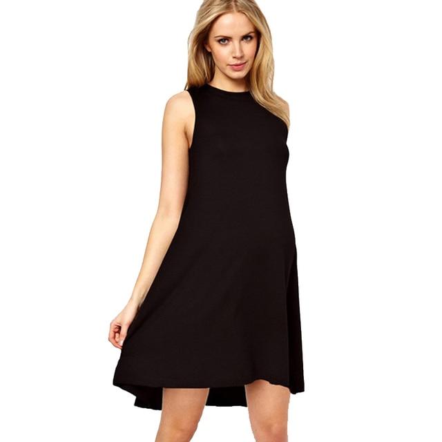 b66010fd6d5f Di alta Qualità Tencel Maternità Vestito per Le Donne In Gravidanza  Gravidanza Vestiti di Nero di
