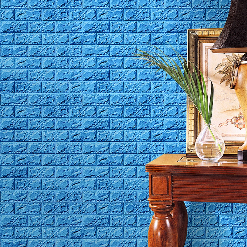 30x60cm PE Foam 3D Wall Stickers Safty Home Decor Wallpaper DIY Wall Decor Brick Living Room Kids Bedroom Decorative Sticker @02