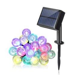 20 штук Водонепроницаемый свет шнура с разноцветный 8 режимов Панели солнечные переключатель для украшения праздника и дома и улицы
