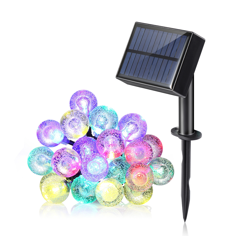 20pcs Waterproof String Light With Multi Colors 8 Modes Solar Panel Switch For Holiday Decoration & Indoor & Outdoor Application