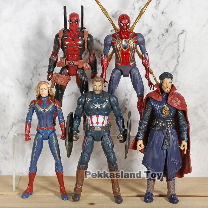 5pcs-set-captain-font-b-marvel-b-font-doctor-strange-captain-america-spiderman-deadpool-pvc-action-figures-collection-model-toy