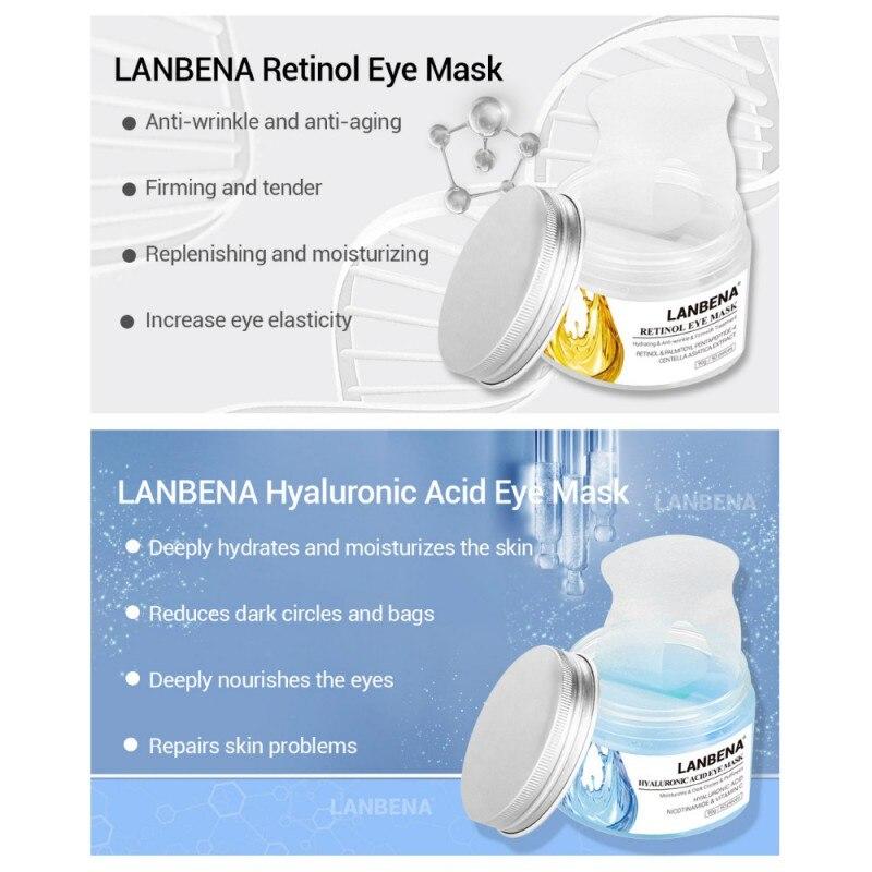 Retinol Eye Mask Hyaluronic Acid Eye Patches Serum moisturizing Reduces Dark Circles Bags Eye Lines Repair Nourish Firming skin
