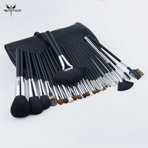 Anmor 26Pcs Makeup Brushes Make Up Brush Portable Eyebrow Eyeshadow Cosmetic Contour Soft Foundation Synthetic Hair Set With Bag