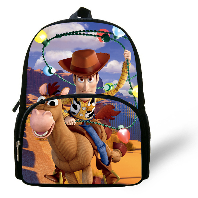 36fdcc1410a 12-inch Mochilas Infantis Toy Story Backpack Woody Roundup Horse For Kids  Age 1-6 Cartoon Toy Story School Bag Children Boys