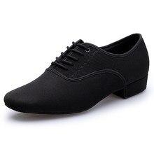 Plus tamaño 39-46 interior zapatos de baile zapatos hombres negro Latina  baile Salsa zapatos de tacón bajo de salón de baile de . a8119130baa0