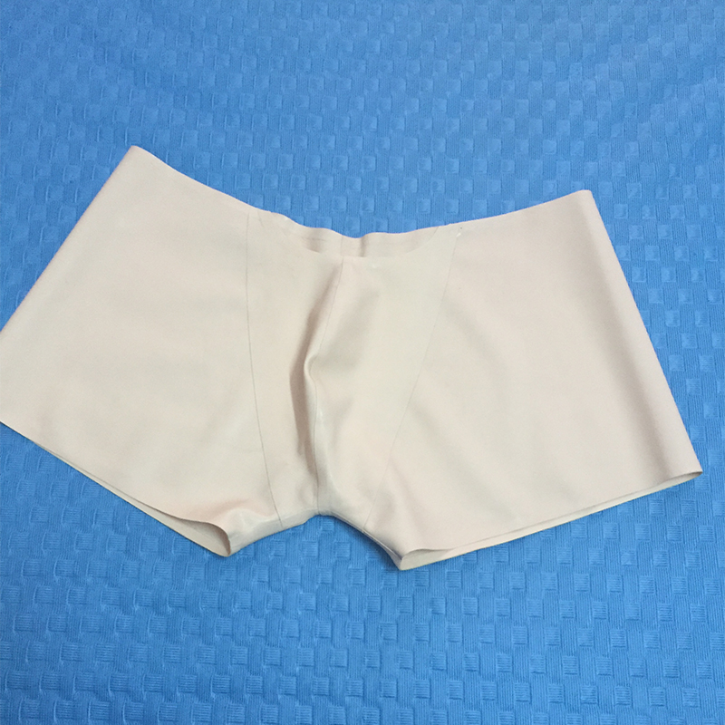 White Latex Shorts Top Sell Latex Rubber Pouch Underwear Short Panties