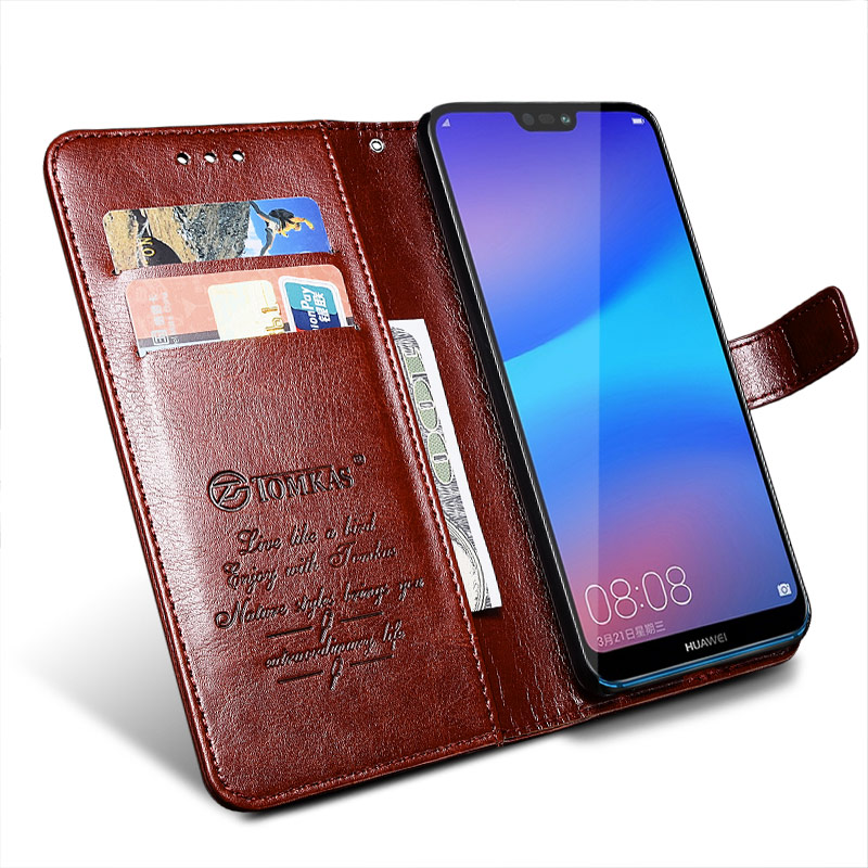 TOMKAS Wallet Case For HUAWEI P20 Lite Flip Luxury Leather With Stand Phone Bag Case Cover For Huawei P20 Lite Cases P20 P20 Pro (15)