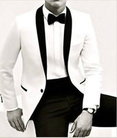 Tailor Made Mens Wedding Suits White Jacket Bridal Groom Suits Business Tuxedos Blazer C44