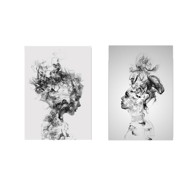 Abstract Woman Patterned Canvas Wall Printing
