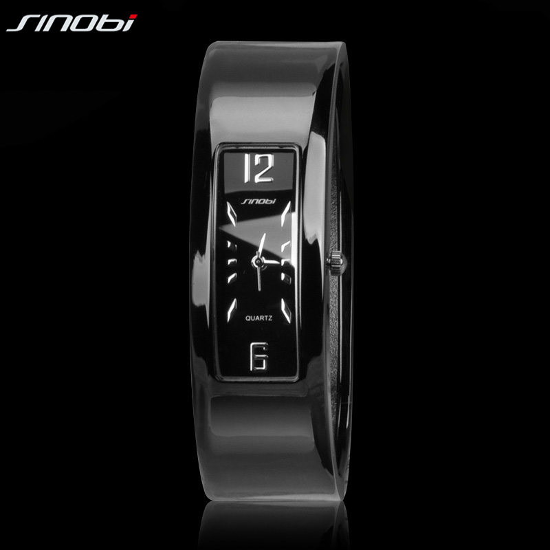 SINOBI Women s Cuff Wristwatch Waterproof Trendy Bracelet Fashion Alloy Ladies Bracelet font b Watch b