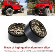1Pair/2Pairs Alloy 1.9 CNC Beadlock Wheels Rims for 1/10 RC Crawler Axial SCX10 SCX10 II 90046 Traxxas TRX4 D90 CJGLG0008 dc 2 2inch high quality 6061 alloy cnc wheel rim for 1 10 rc crawler car traxxas trx4 ford bronco rc4wd d90 axial scx10 90046