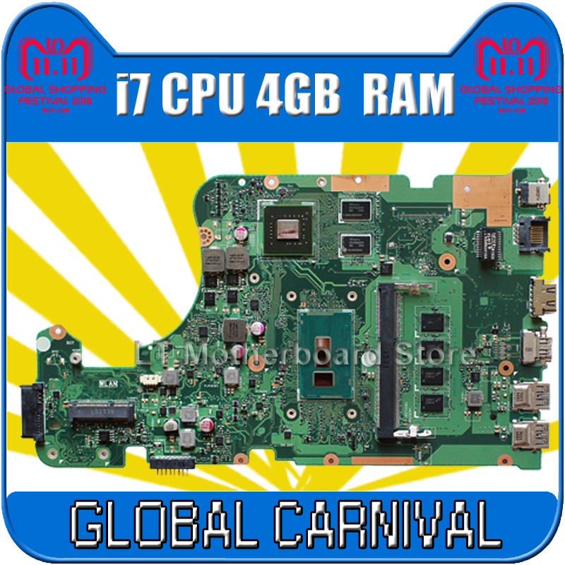 X555LD Motherboard i7 4GB REV 3.6 For ASUS X555LP X555L F555L K555L W591L Laptop motherboard X555LD Mainboard X555LD Motherboard
