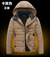 Fast Delivery Winter Fashion Men Hooded Coat Warm Cotton Padded Clothes Men Leisure Jacket Sell Like