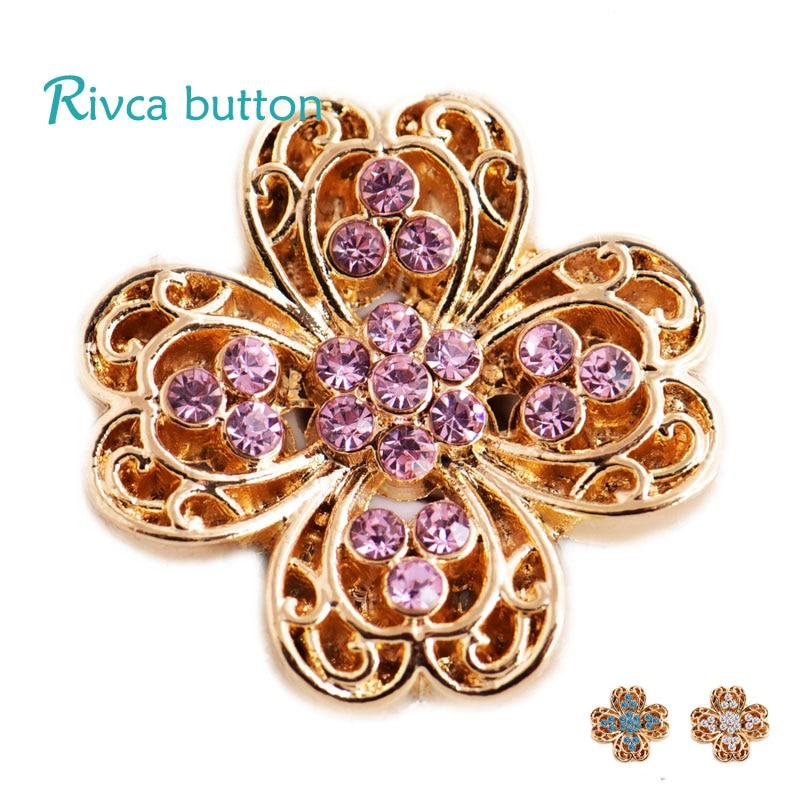 D03428 Rivca Snap Button Jewelry Crystal style 18mm Snap Button Bracelets Men Colorful Rhinestone Charm Bracelets For Women