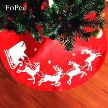 2017 Non Woven Snowman Deer Christmas Tree Skirts For Xmas Decorations Kids Gifts Navidad