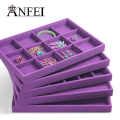 New Purple Series Jewelry Display Tray Jewelry Organizer case Jewellery Box Holder Stand Jewlery  Six Different Jewelry Display