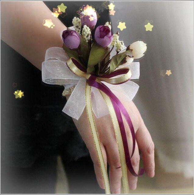 Pas cher nouvelle arriv e la main mari e poignet fleurs for Livraison fleurs pas cher livraison gratuite
