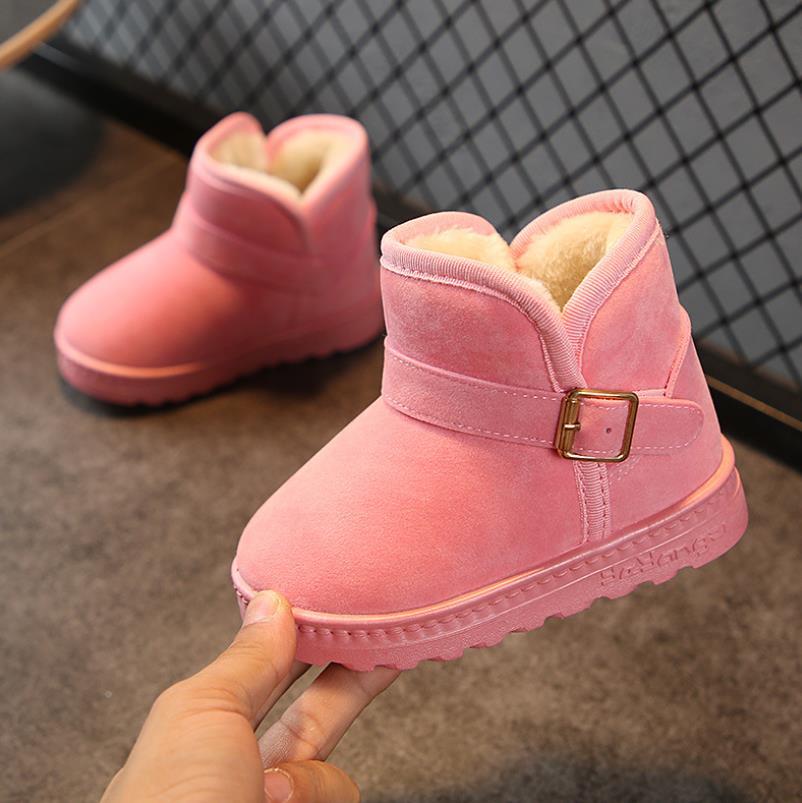 26810a9f7525 HaoChengJiaDe Schnee Stiefel Wildleder Stiefel Für Mädchen Jungen Winter  Warme Mode Weiche kinder Schuhe Plüsch Pelz