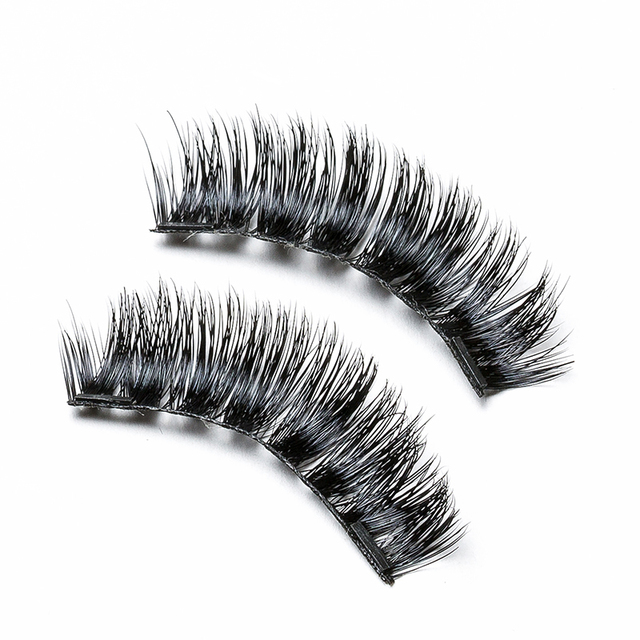 4d11e8fe8c2 zwellbe 4 Pcs/Pairs 3D Magnetic False Fake Eyelashes ORIGINAL LASH Eye  Makeup Accessories Magnet Eye Lashes Extension