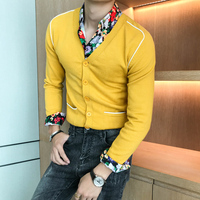 Brand New Men Cardigan Fashion 2018 Autumn Winter V Neck Sweater Men Long Sleeve Casual Slim Fit Knitwear Sweaters Mens Clothes