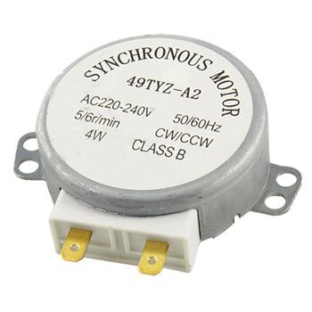 49TYZ-A2 średnica wału 7mm x 11mm AC 220V-240V 4W 4rpm gramofon synchroniczny silnik kuchenka mikrofalowa 65mm x 60mm x 27mm (L * W * T) tanie i dobre opinie Części kuchenka mikrofalowa