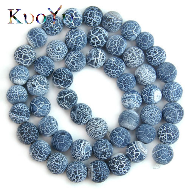 12MM BLUE AGATE GEMSTONE SPIDER WEB BLUE FACETED ROUND 12MM LOOSE BEADS 15/""