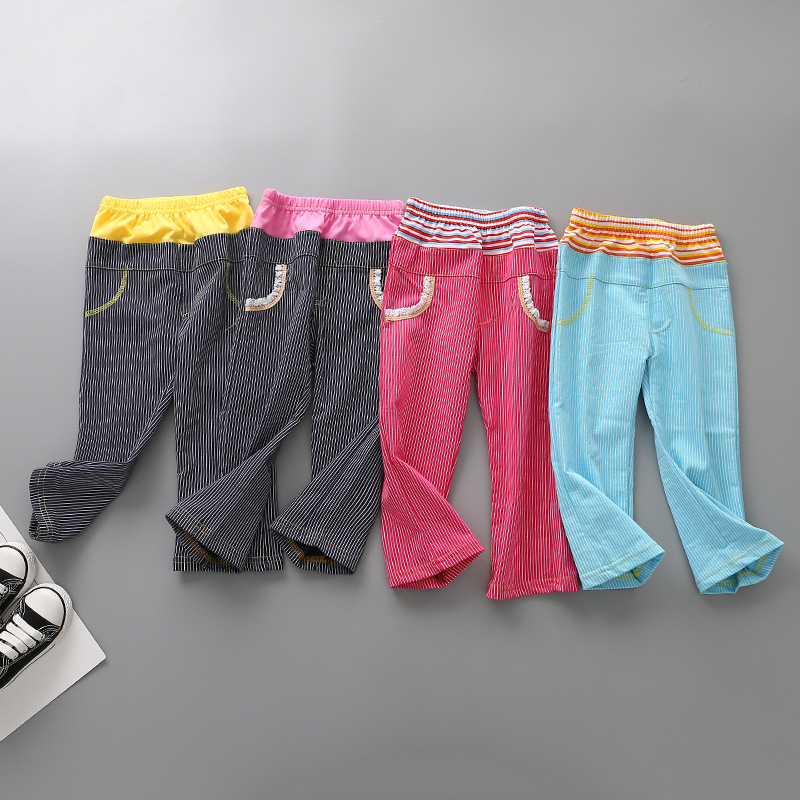 new winter trousers of Europe and the United States children loop Color matching loop pa ...