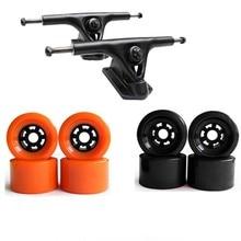 """83 мм Мягкие колеса скейтборда с грузовиком набор 7,2"""" лонгборд колеса скейтборд алюминиевый сплав Мост Электрический скейтборд грузовик"""