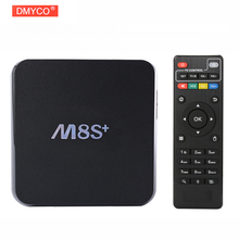 M8S Plus Android 4.4 TV Box Amlogic S812 Quad Core 2.4G y 5G Wifi M8S + 2 GB/8 GB Gigabit Lan Bluetooth 4.0 4 k H.265 * 2 k Miracast