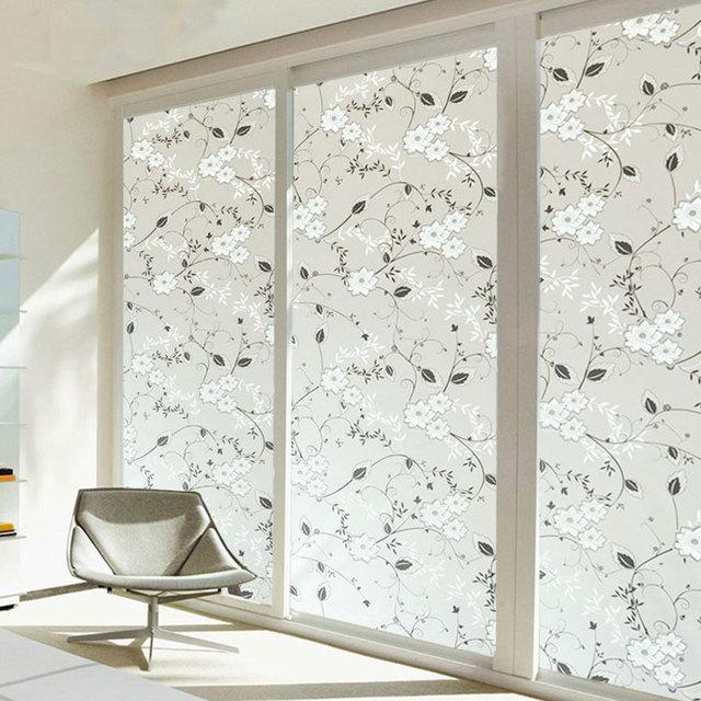 45x100cm frosted flower window sticker glass wall sticker decals