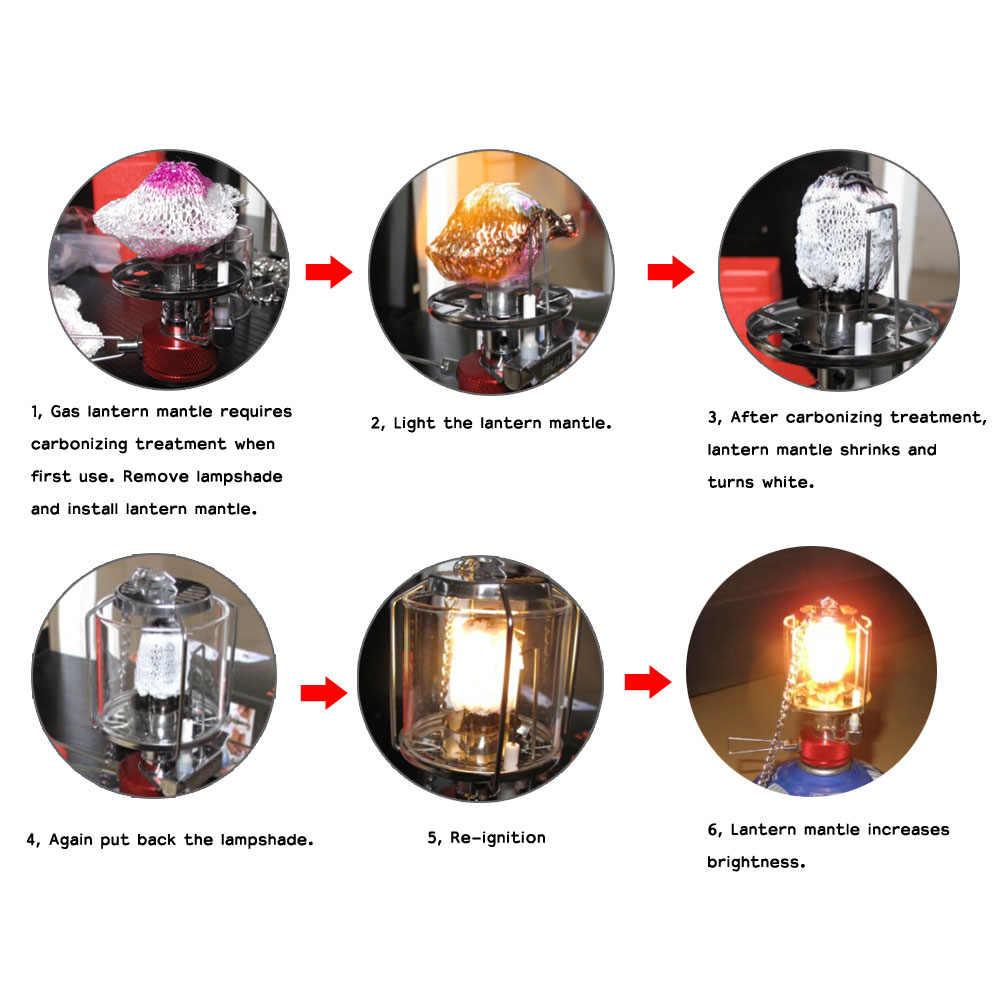 2 шт. кемпинг газовый фонарь мантия прочный открытый фонарь для лагеря плафон на лампу кемпинг аксессуары лампа с кожухом тени газовый фонарь Mantles