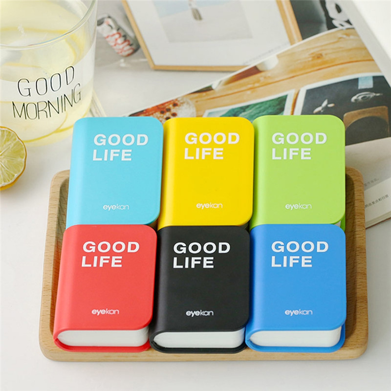 Mini Book Shape Contact Lens Case Plastic Hard Contact Lenses Box Cute Eyeglass Container Lovely Travel Portable Gift