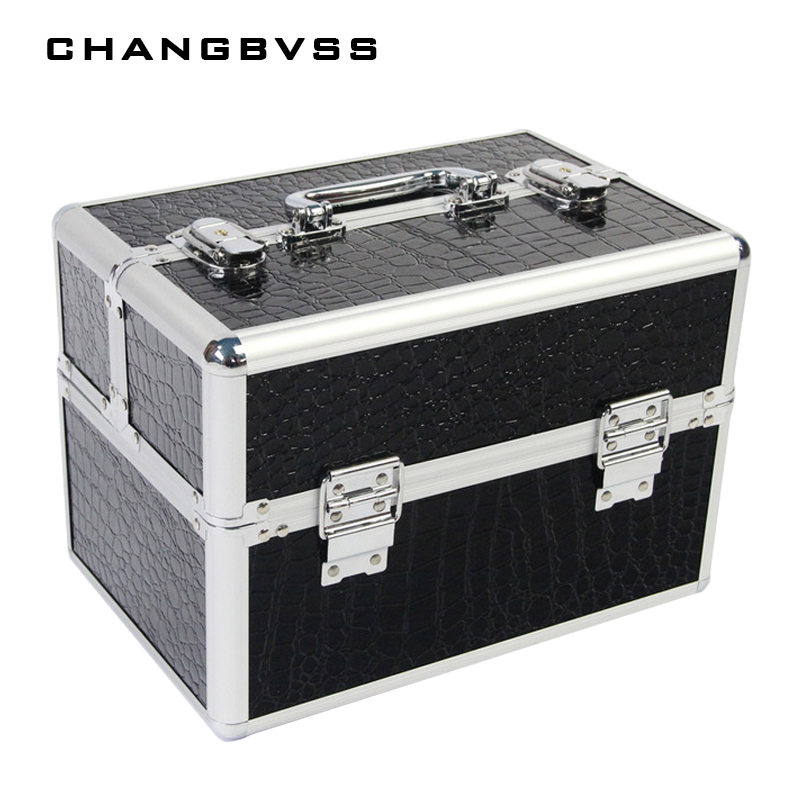 2017 New Professional Large Capacity Makeup Organizer Cosmetic Box Portable Jewelry Storage Box Case Organizador De