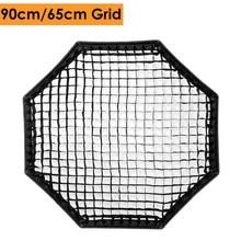 Сотовая сетка для фотосъемки Triopo, портативный уличный восьмиугольный зонт софтбокс, 65 см, 90 см