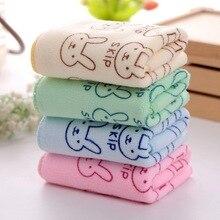 4pc/set Baby Towel Superfine Fiber Kid Bath Towels Washcloth Towel Children Kitchen Bathroom Wipe Wash Cloth Towel Random Color недорого