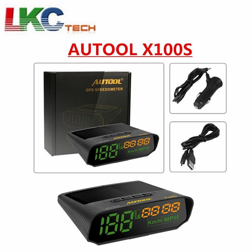 2019 AUTOOL X100S universel voiture HUD affichage tête haute OBD2 voiture compteur de vitesse MPH/KM/h alarme de survitesse compteur de vitesse numérique intelligent