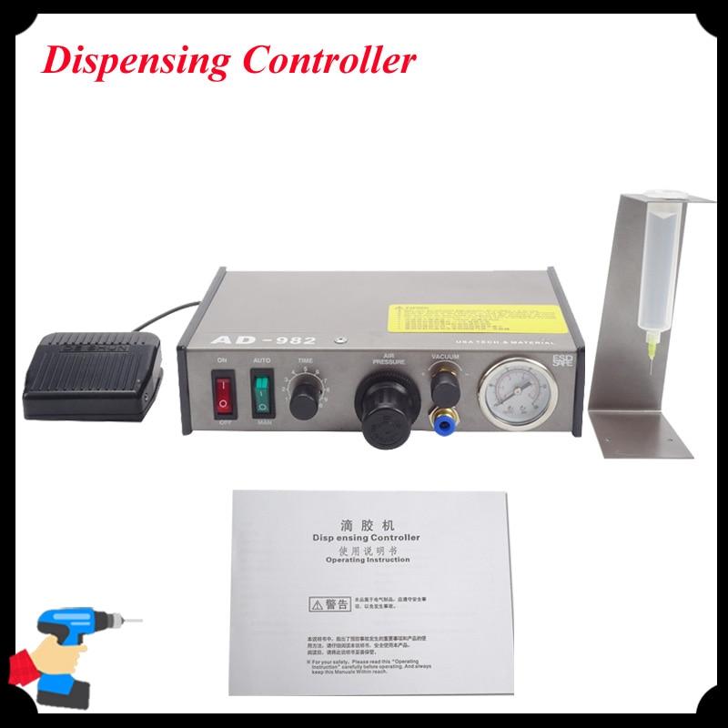 цены на 1pc Semi-Automatic Glue Dispenser High-Precision PCB Solder Paste Dispensing Controller Dropper Fluid Dispenser AD-982 в интернет-магазинах