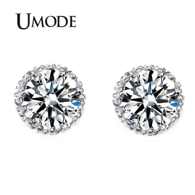 Umode Multi Gs 8mm 2ct Top Quality Cz Cubic Zirconia Stud Earring Ue0013