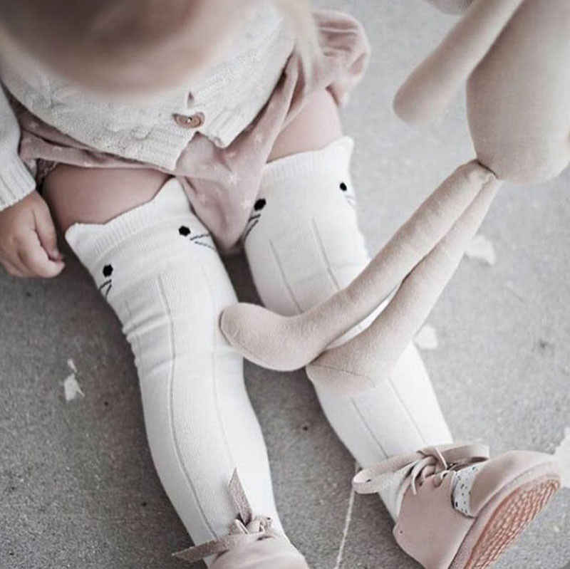 Toddler Stockings Baby Boy Girl Tights anti slip Cute Cartoon Cat Ear Skid Resistance leg warmers For newborns infantile 2018